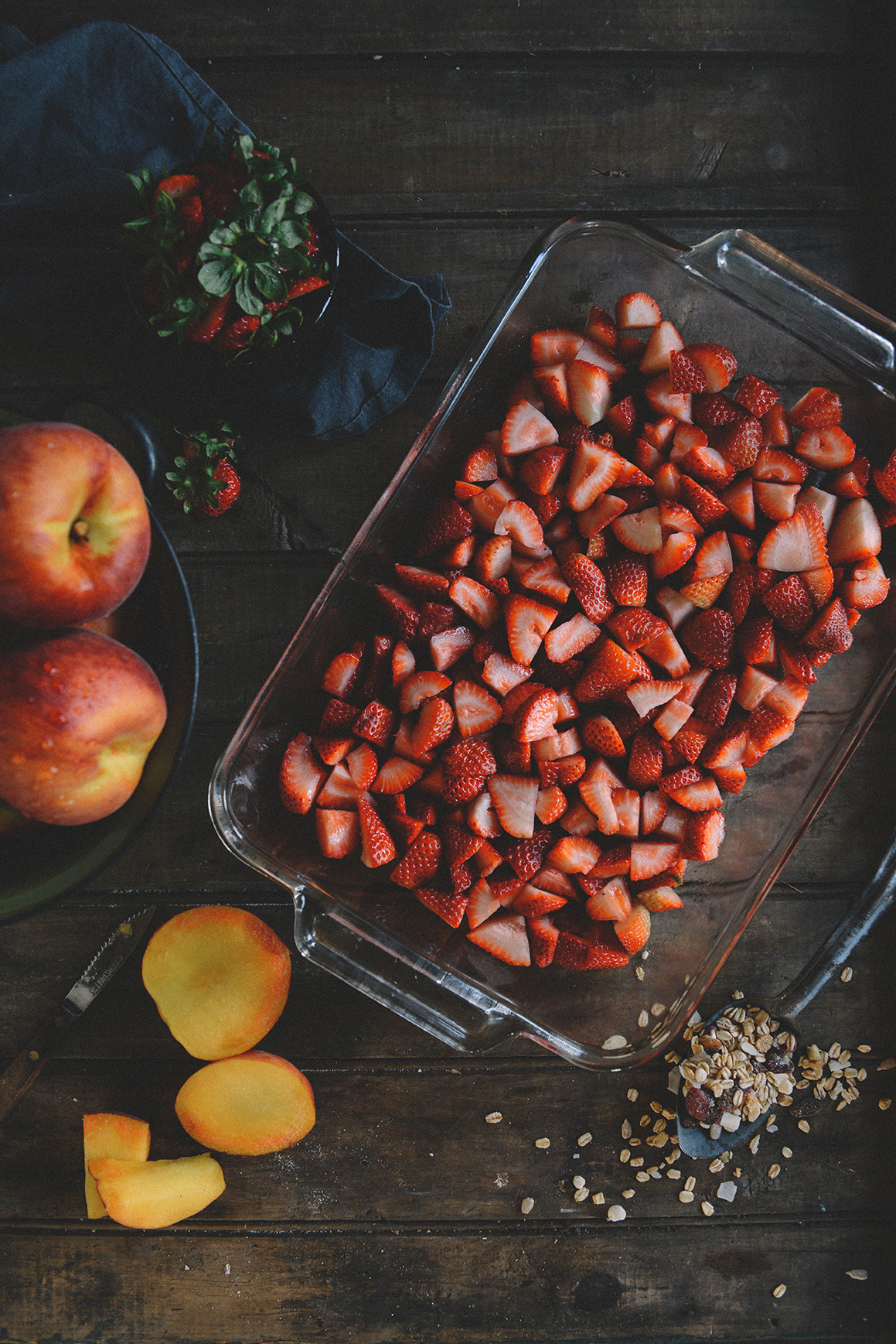 A Farm Workday with Strawberry Peach Crisp (Gluten Free)