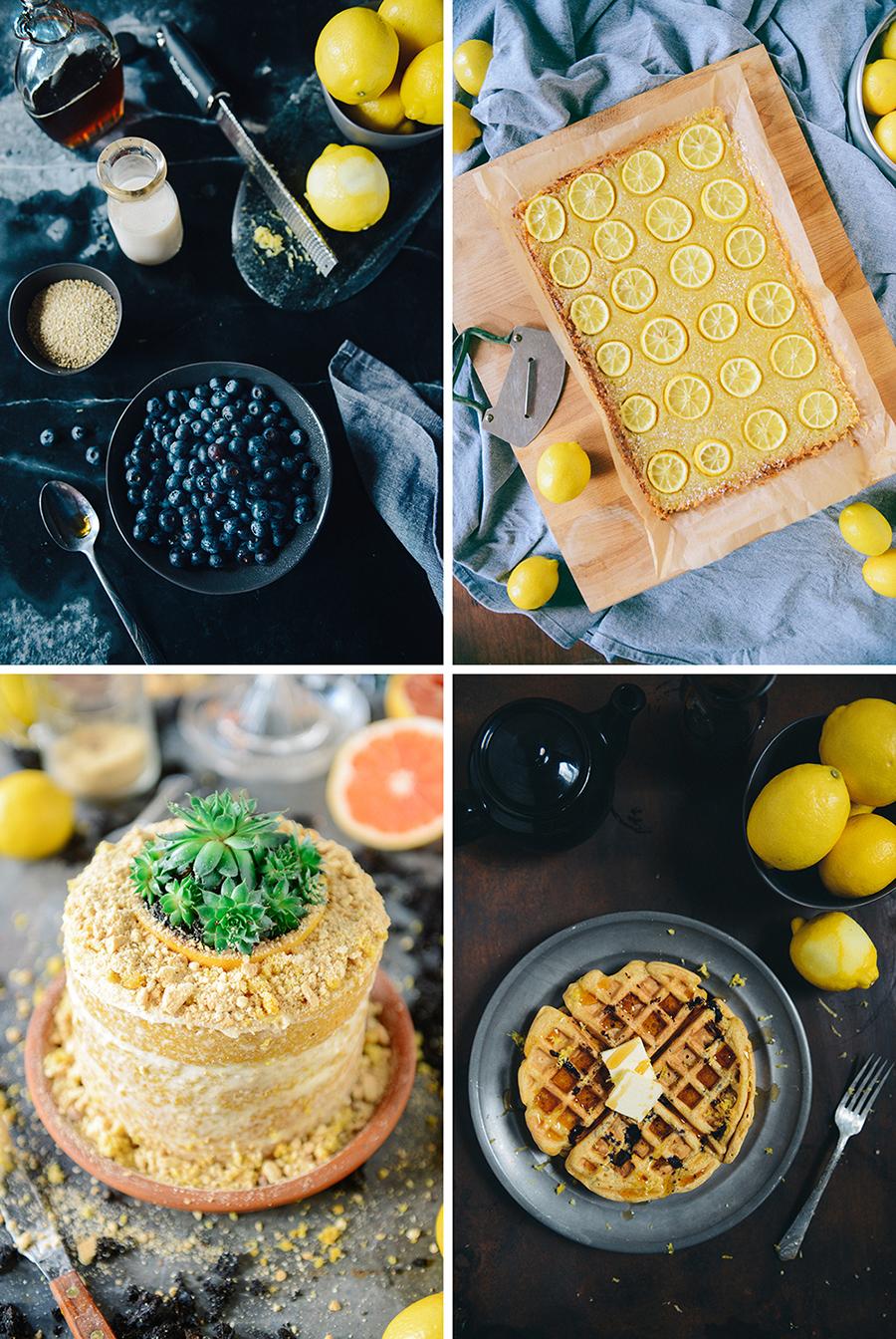 Lemon Recipe Roundup // www.WithTheGrains.com