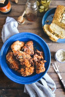 Pickle Brined Fried Chicken // www.WithTheGrains.com