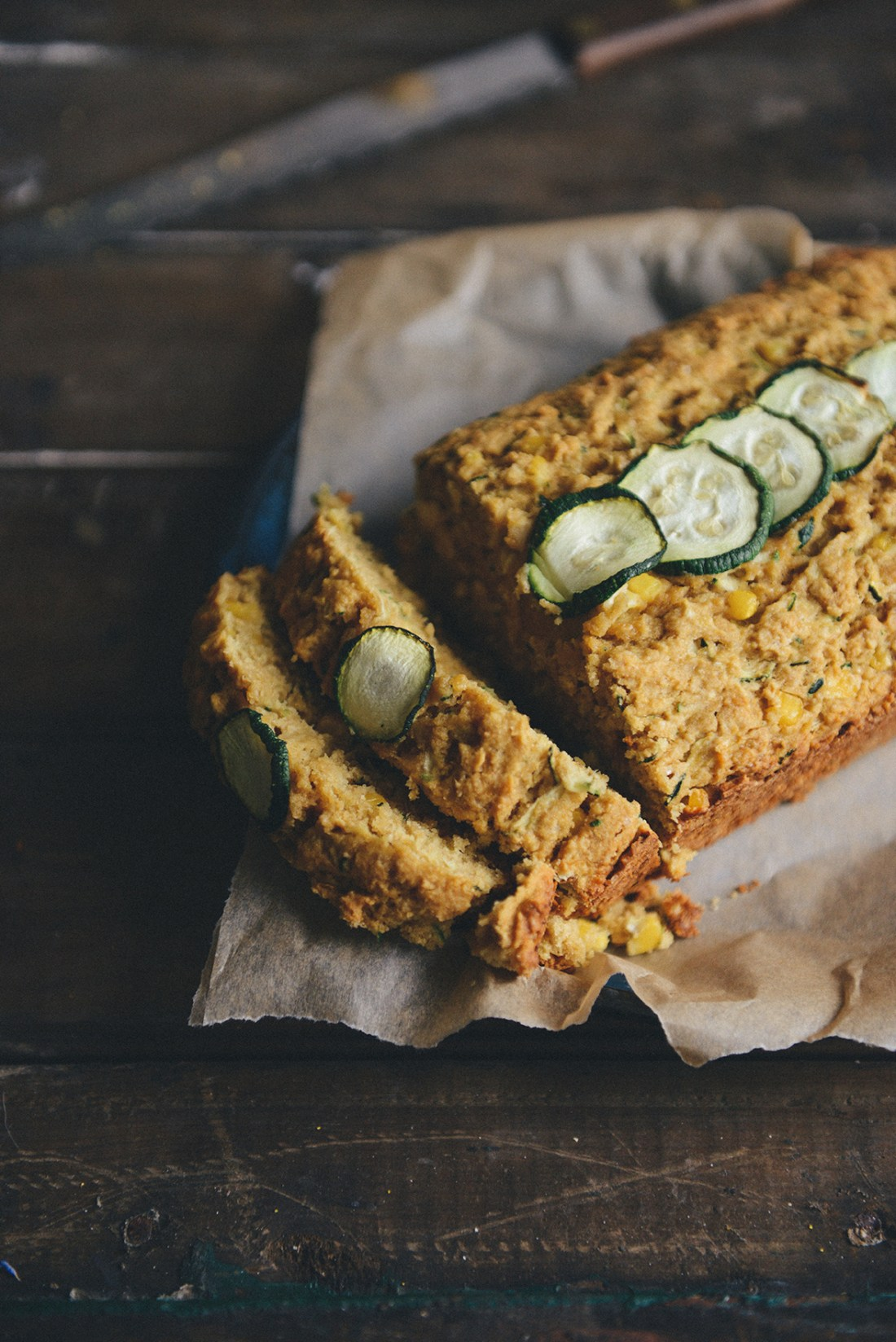 Whole Grain Zucchini Cornbread by With The Grains // www.WithTheGrains.com