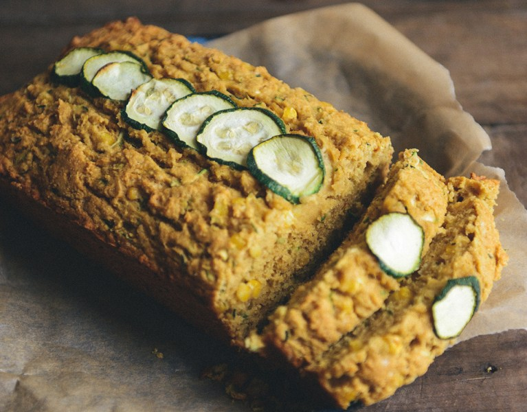 Whole Grain, Browned Butter, Zucchini Cornbread