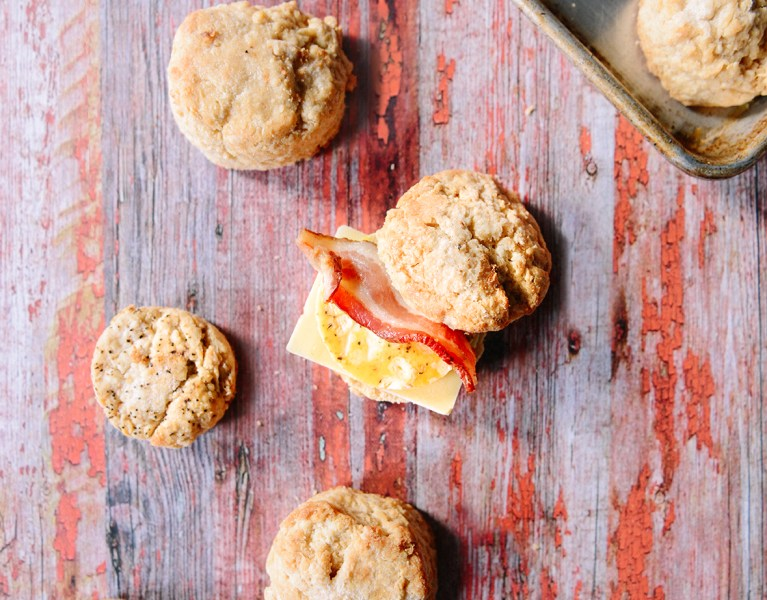 Whole Grain Biscuits & Toppings for a Biscuit Buffet