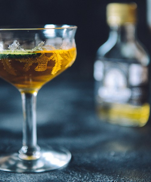 A Turmeric Cocktail Featuring Von Humboldt's Turmeric Cordial // www.WithTheGrains.com
