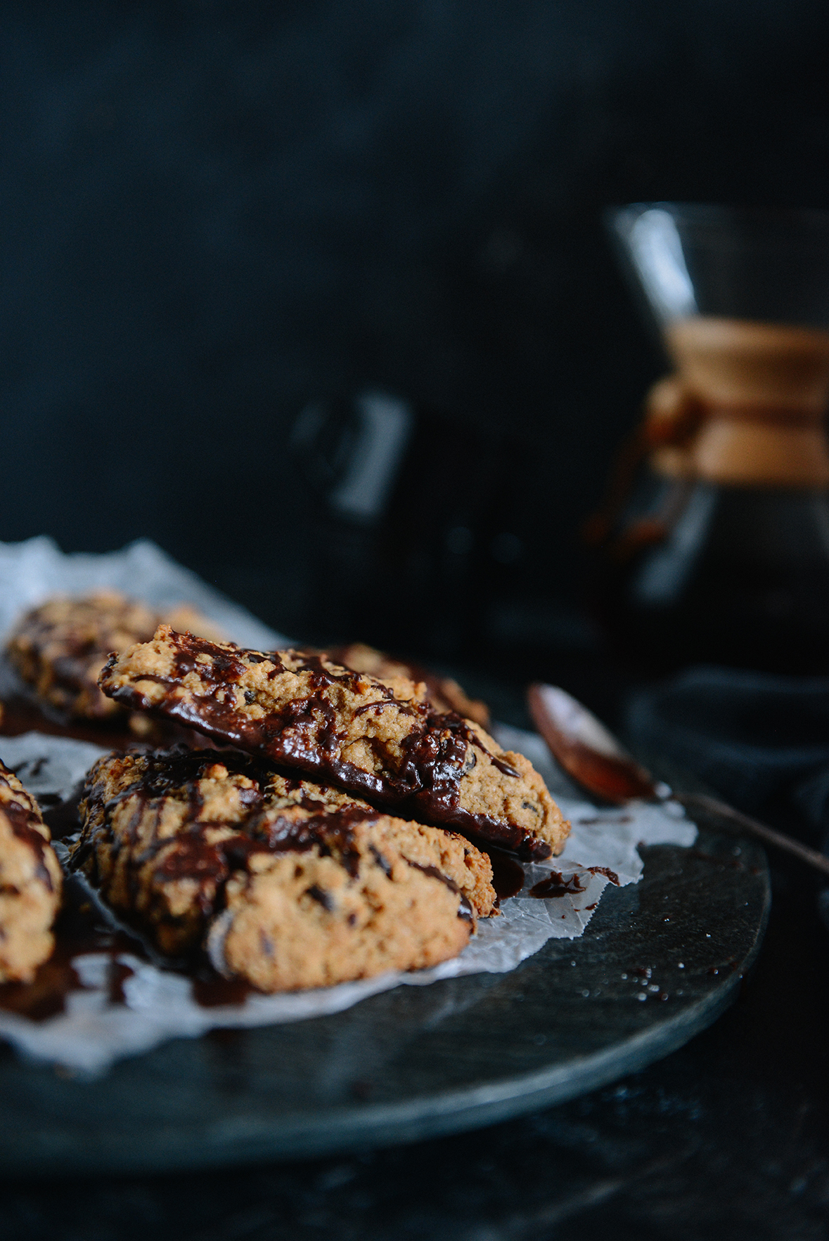 Whole Grain Dark Chocolate Cardamom Scones with a Hint of Coffee // www.WithTheGrains.com
