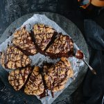 Whole Grain Dark Chocolate Cardamom Scones with a Hint of Coffee