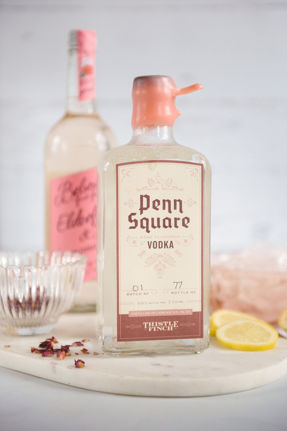 Two Simple Rose Cocktails featuring Belvoir Rose Elderflower Lemonade // www.WithTheGrains.com
