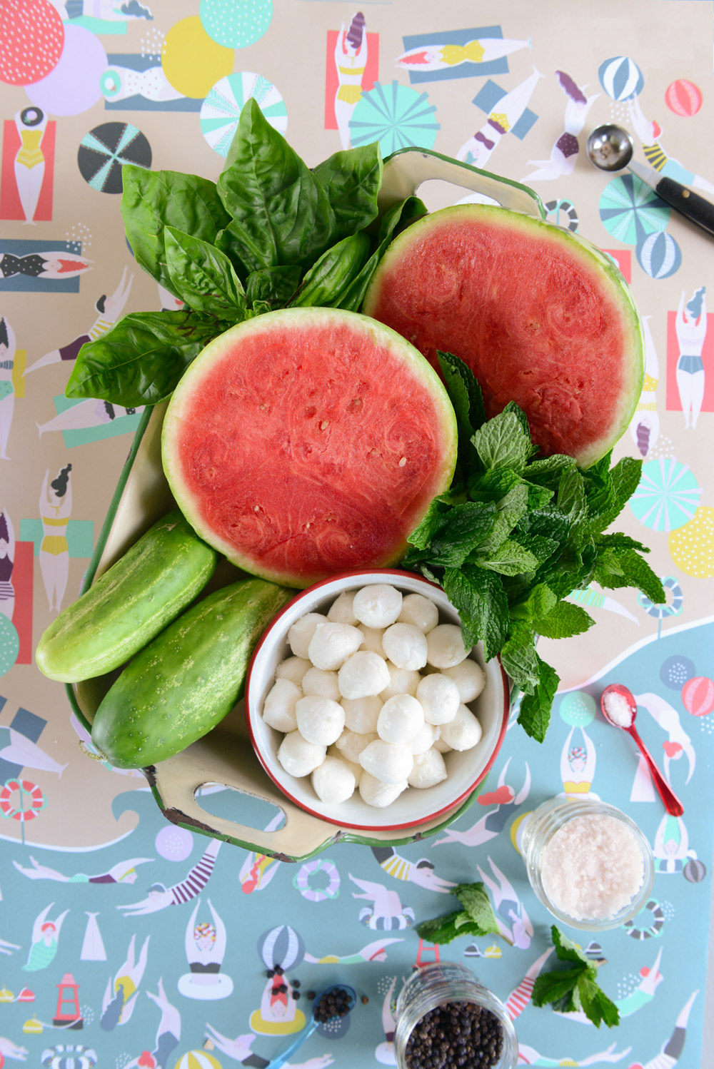 Watermelon Salad, Watermelon Lemonade and a Watermelon Treat for Pups // www.WithTheGrains.com