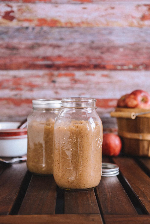 Crock-Pot Applesauce (Honey Sweetened with Vegan Option)