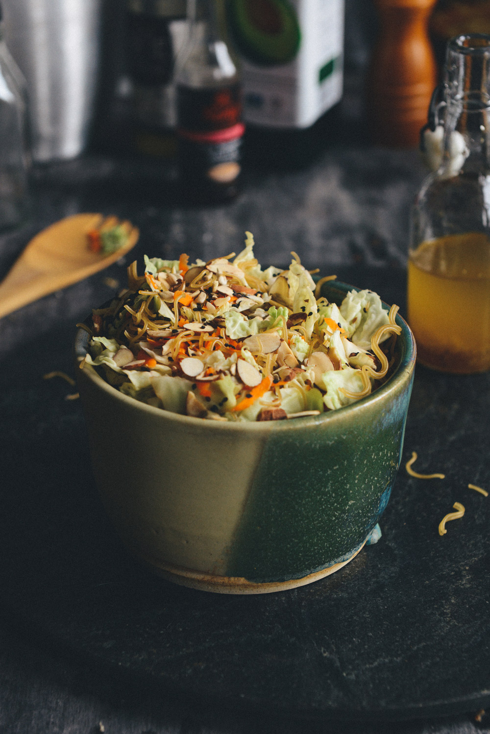 Whole Grain Ramen Noodle Salad // www.WithTheGrains.com