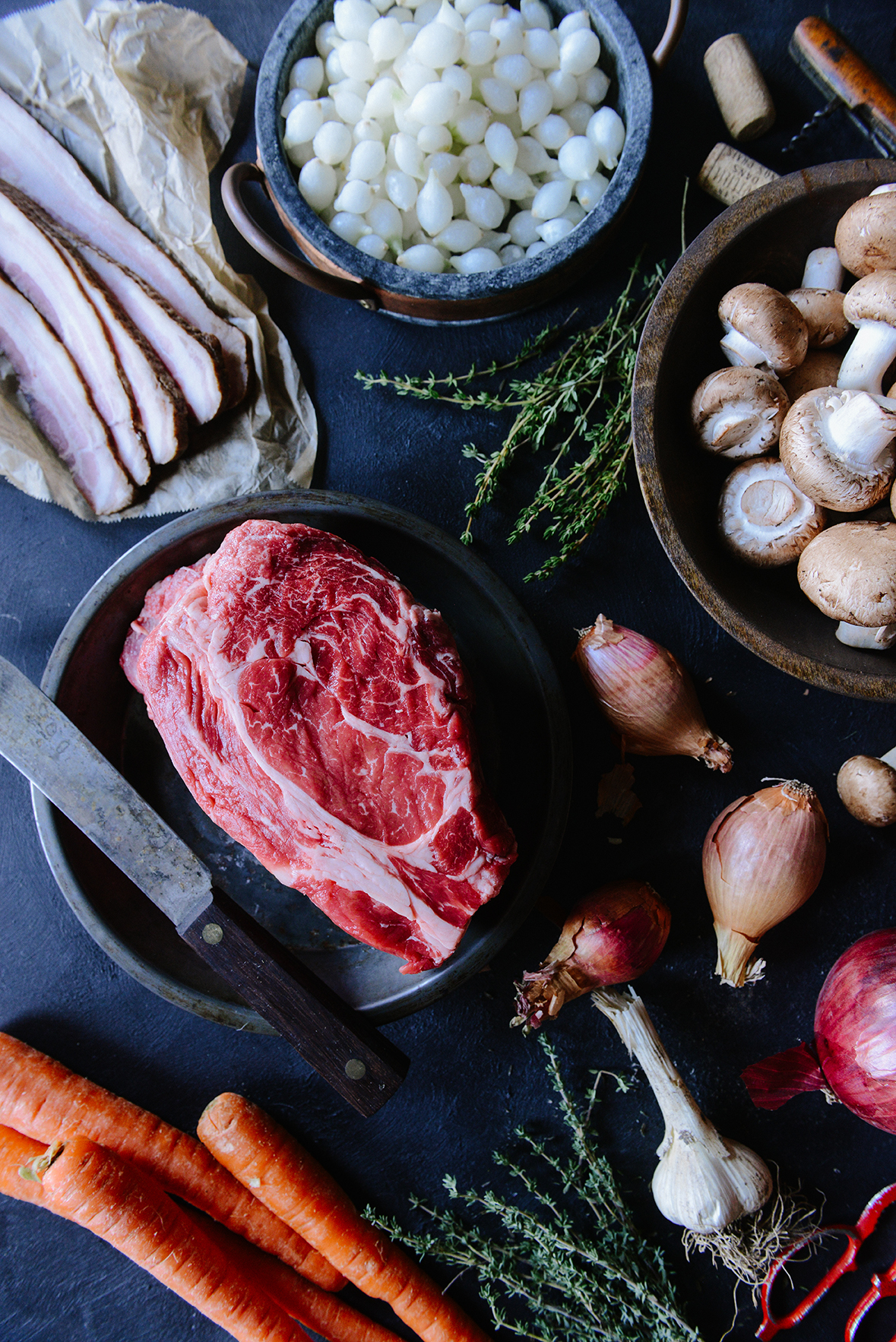Boeuf Bourguignon for Comforting Winter Dinners // www.WithTheGrains.com