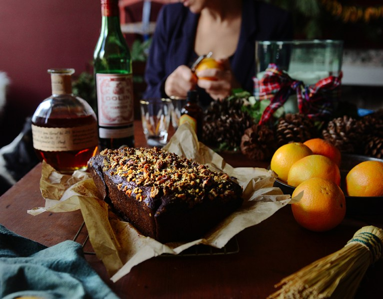 Orange Gingerbread Loaf & Orange Manhattans