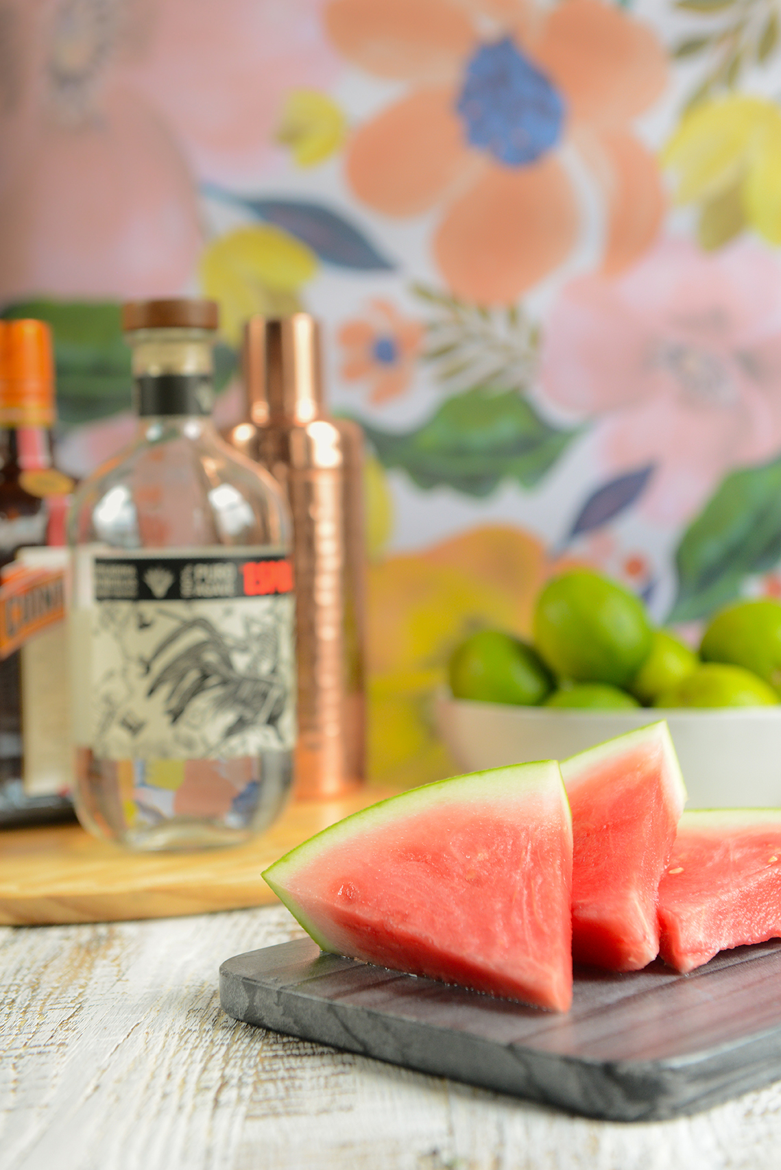 Cucumber Watermelon Margaritas // www.WithTheGrains.com