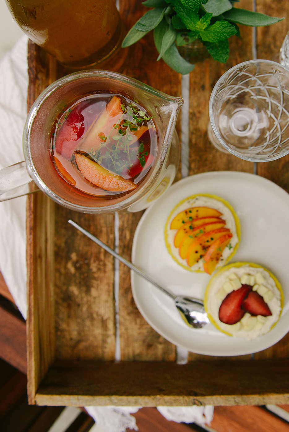 White Wine Sangria and Cakes // www.WithTheGrains.com