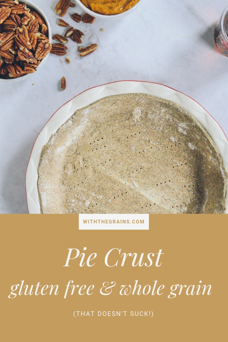 Gluten Free Whole Grain Pie Crust // www.WithTheGrains.com