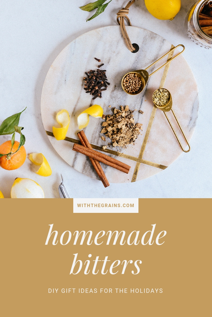 Homemade Bitters: A DIY Holiday Gift for Cocktail Connoisseurs // www.WithTheGrains.com