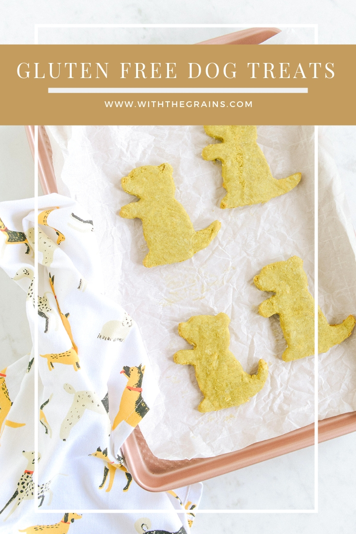 Gluten Free Dog Treats + Happy Groundhog Day 2019 // www.WithTheGrains.com
