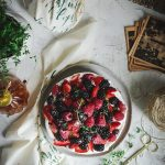 Gluten-Free Vanilla Butter Cake, Whipped Cream & Summer Berries