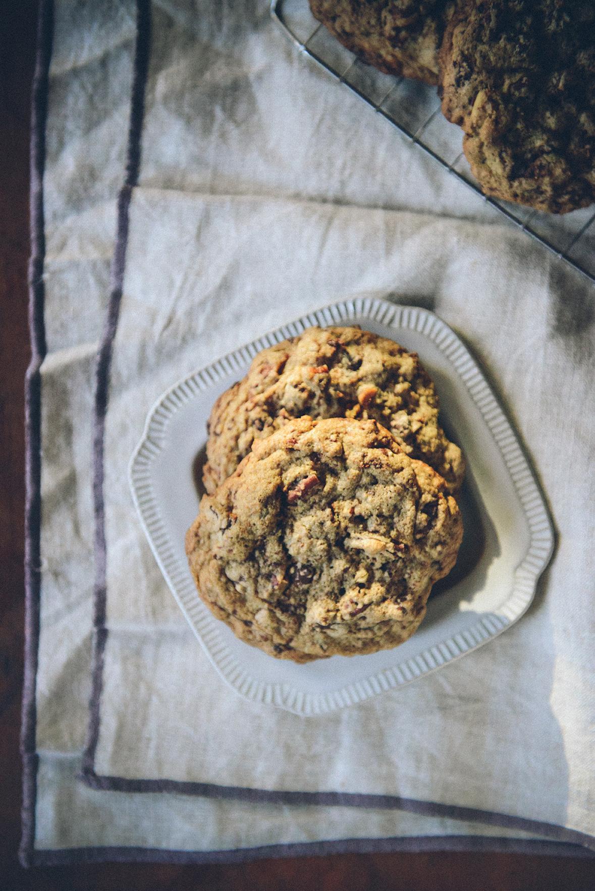 Whole Grain Chocolate Chip Pecan Cookies