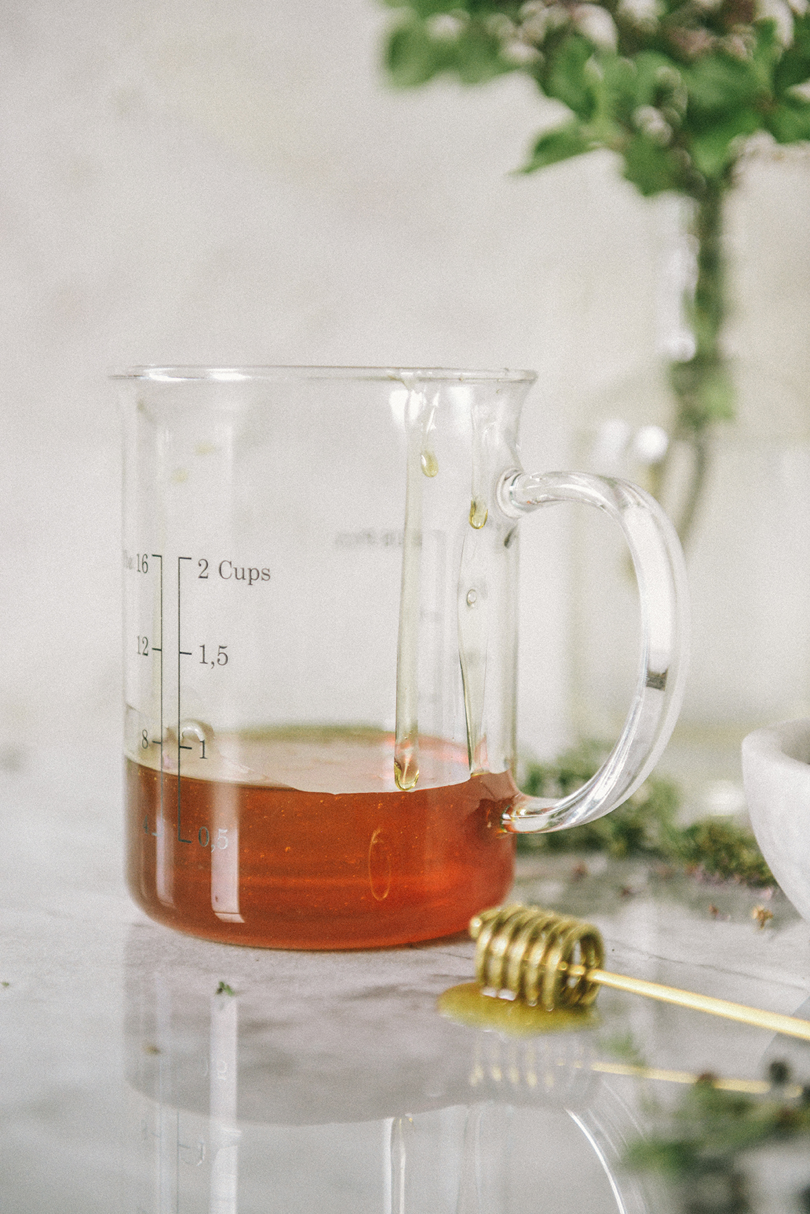 Wildflower Honey for Honey Simple Syrup with Thyme & Black Pepper // www.WithTheGrains.com