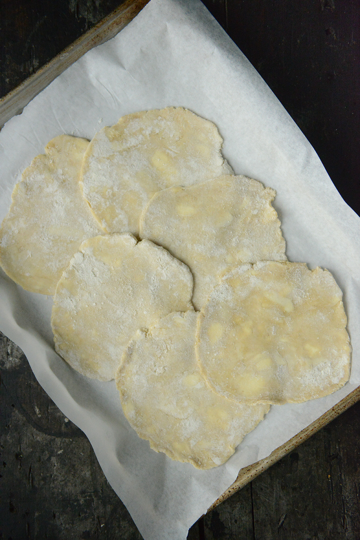 Pie Crusts for Tomato Tarts // www.WithTheGrains.com