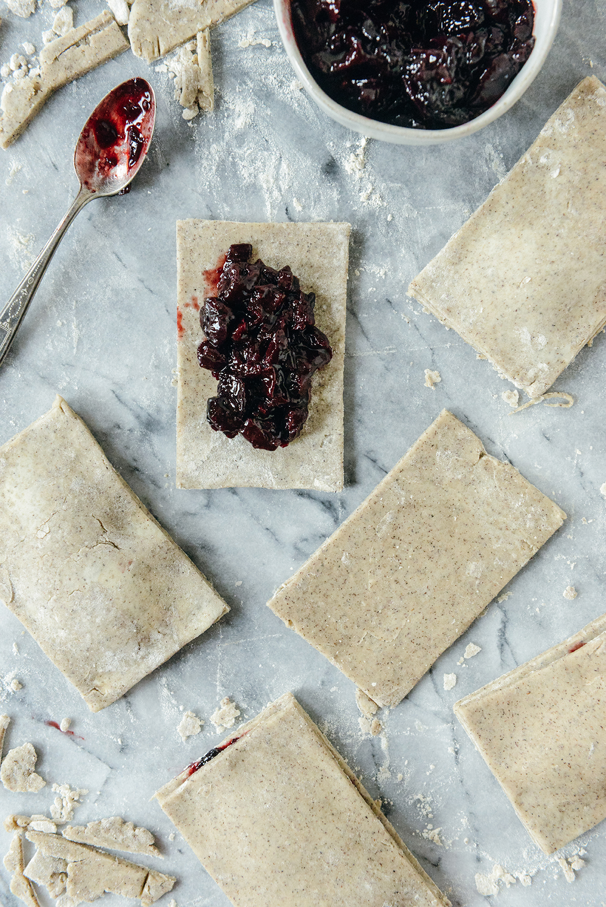 Adding Filling to Homemade Whole Grain Pop Tarts // www.WithTheGrains.com