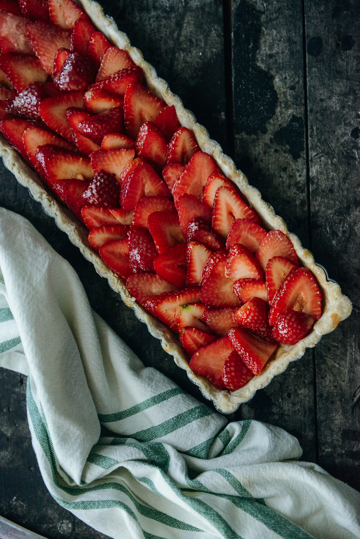 Simple Strawberry Filling // www.WithTheGrains.com