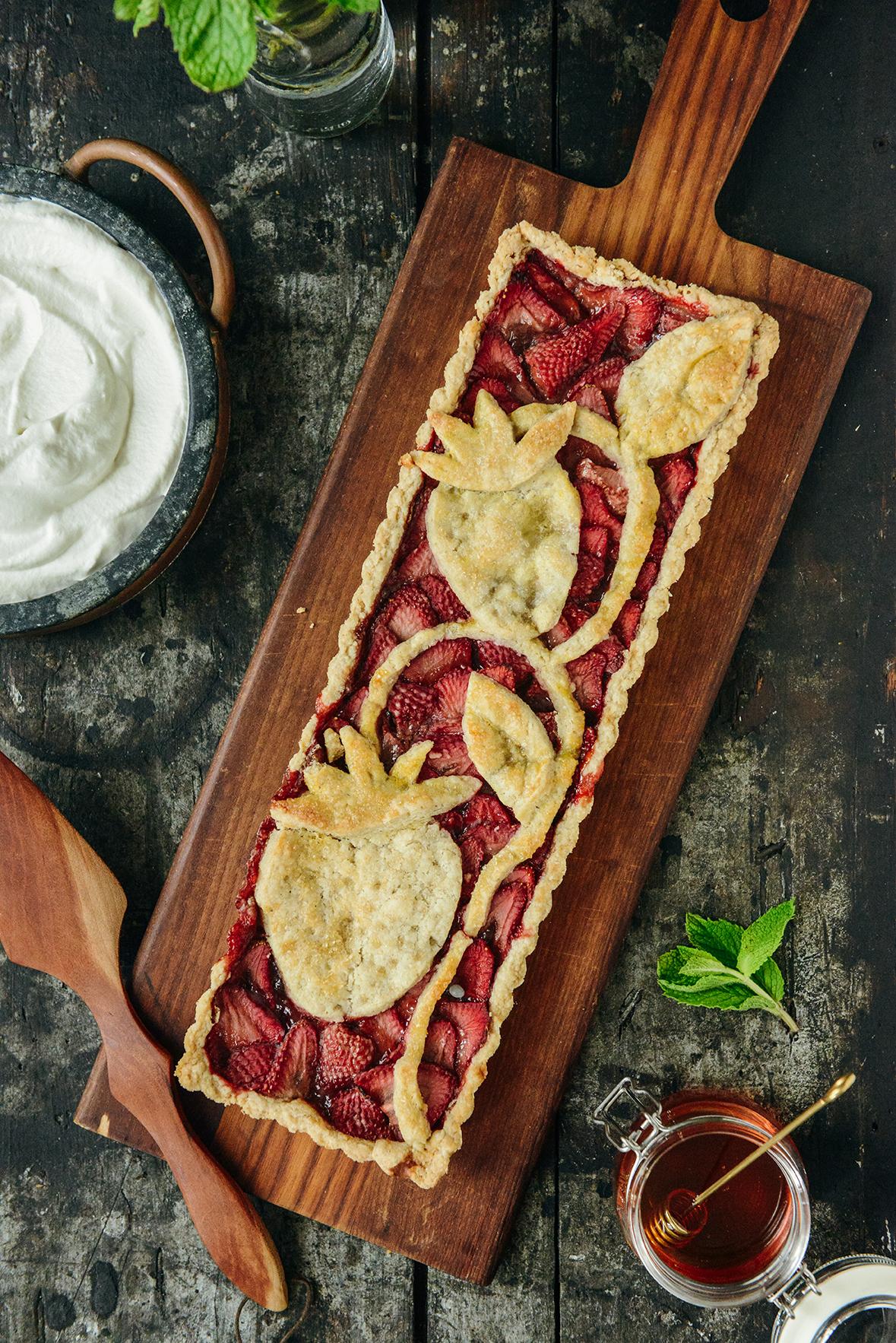 Pie for Dessert: Strawberry Tart with an Oat Flour Crust