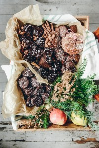 A Rustic Holiday Cookie Box + Homemade Peppermint Patties // www.WithTheGrains.com