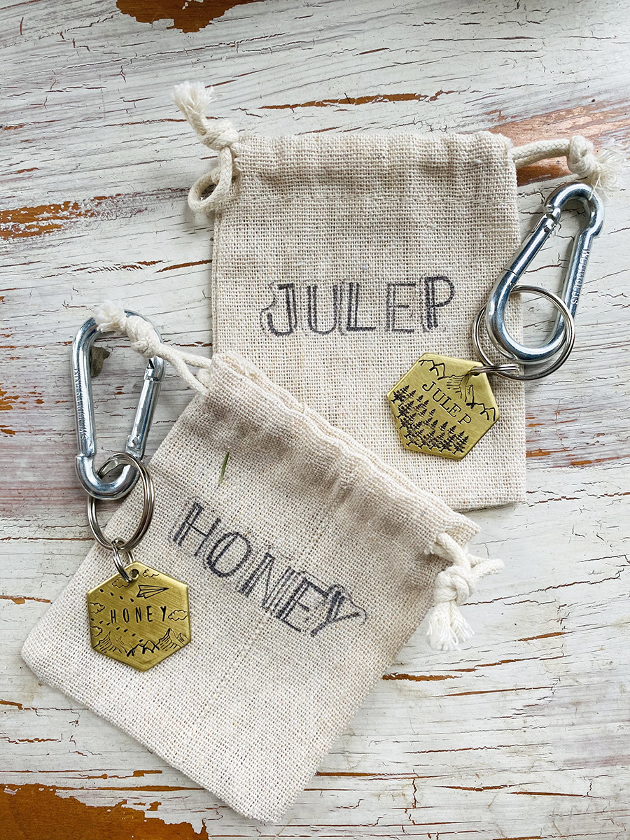 Julep & Honey dog tags // www.WithTheGrains.com
