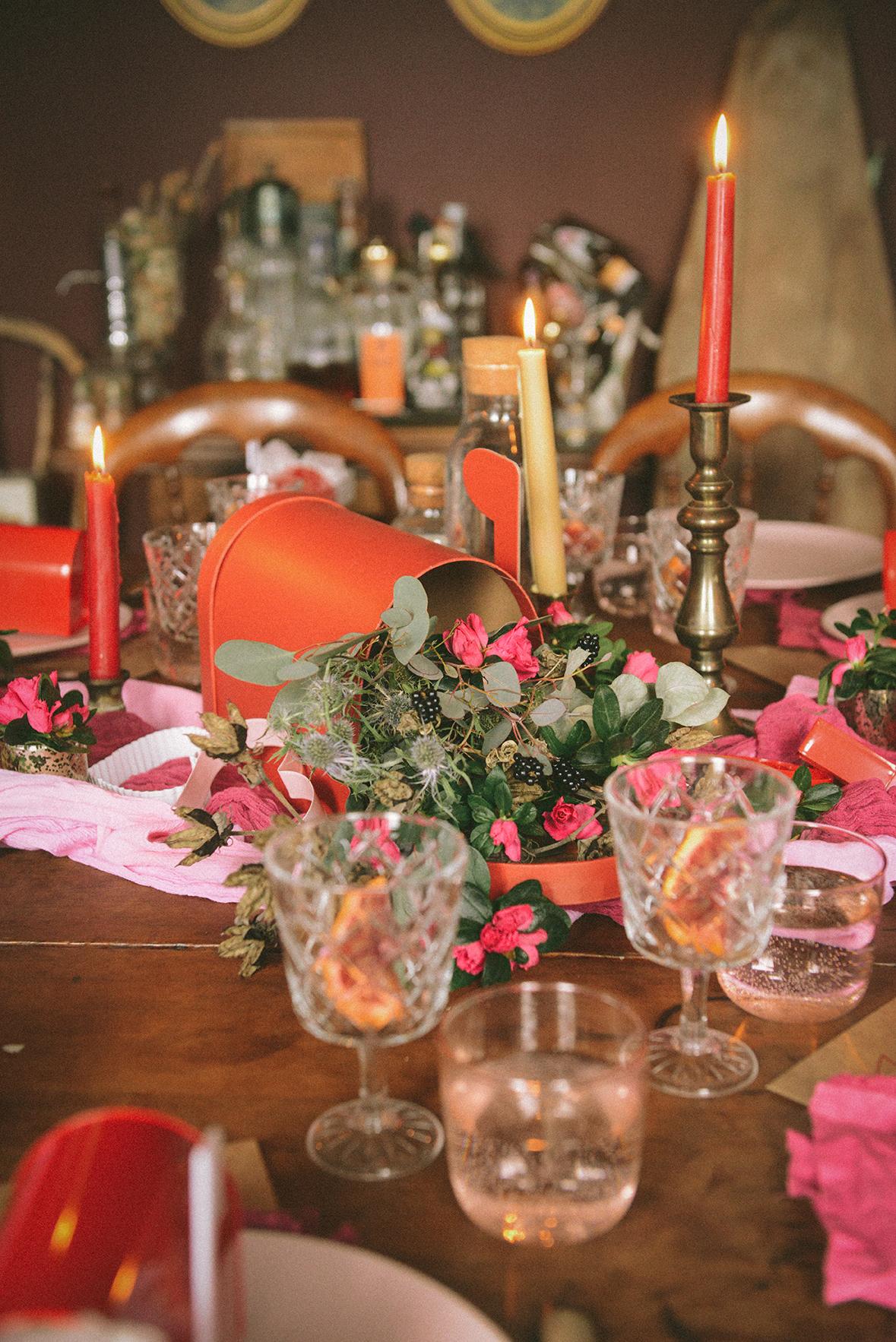 Valentine's Day Centerpiece // www.WithTheGrains.com