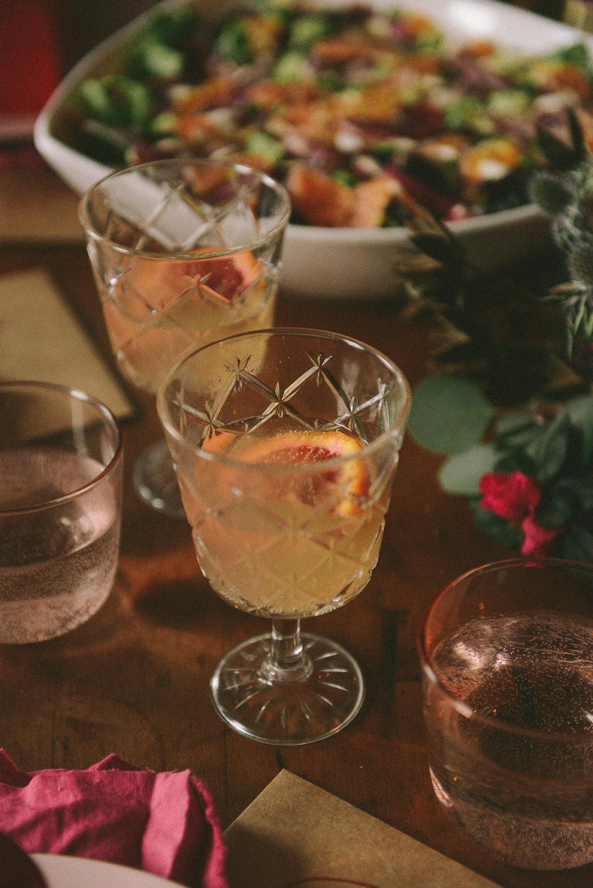 Valentine's Day Mimosas // www.WithTheGrains.com