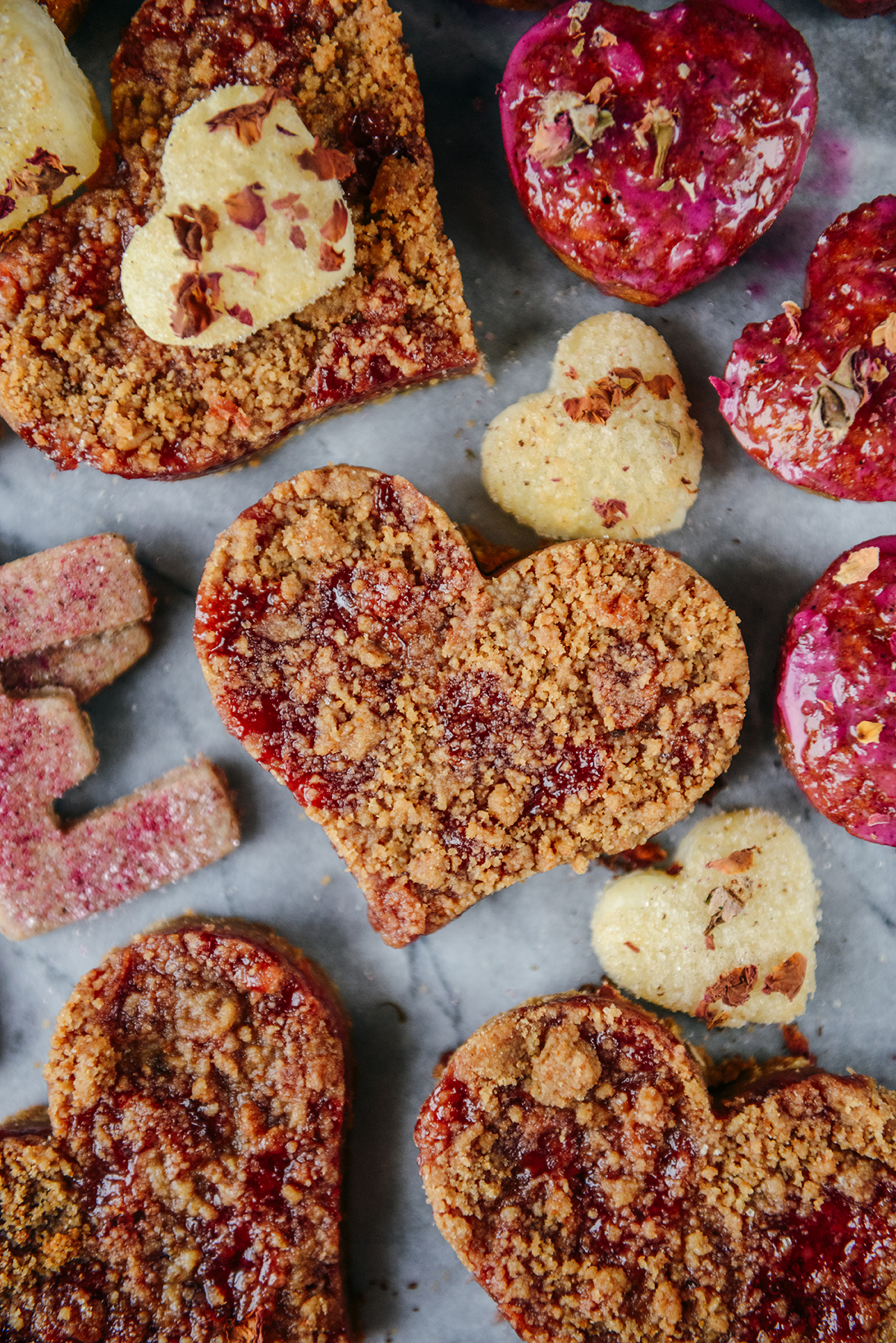 Whole-Grain Jam Shortbread Bars & Lessons in Love