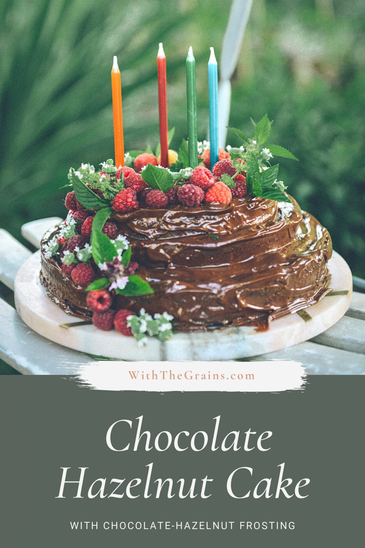 Gluten-Free Chocolate Hazelnut Cake with Chocolate Hazelnut Frosting // www.WithTheGrains.com