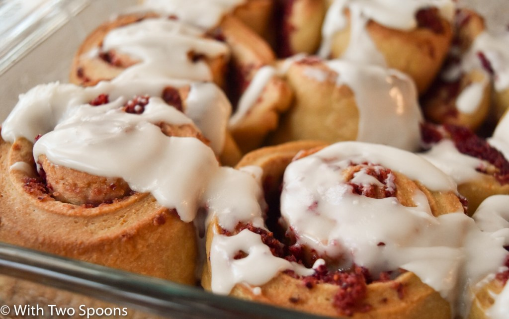 Cranberry Orange Rolls in Pan