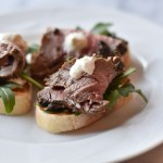 Peppercorn Beef Tenderloin Crostini