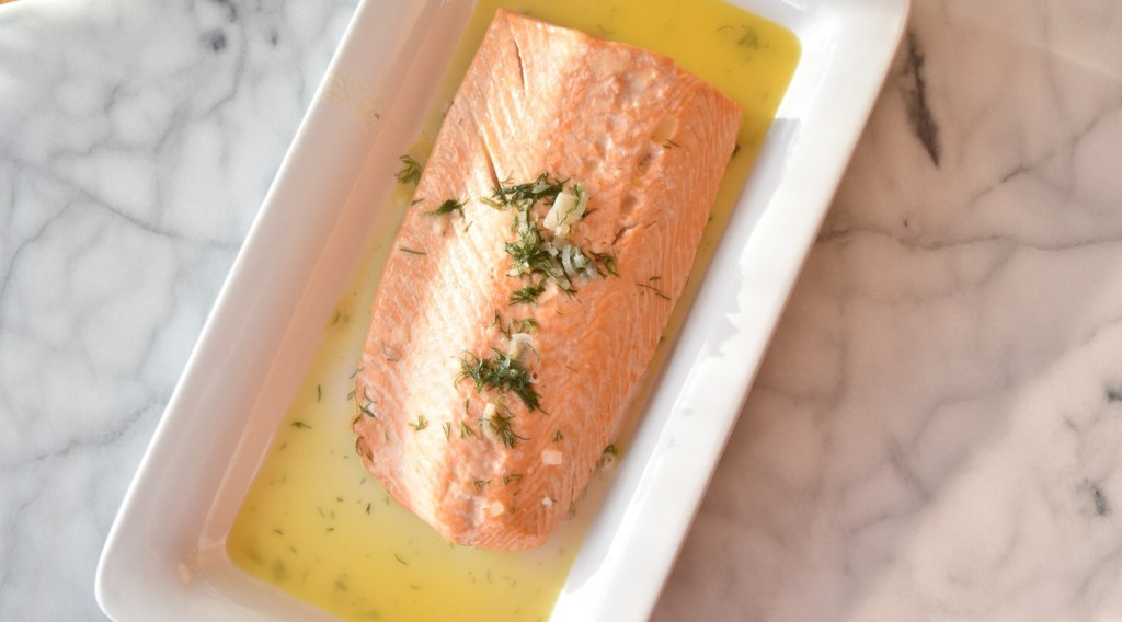 Salmon Butter Dill from above