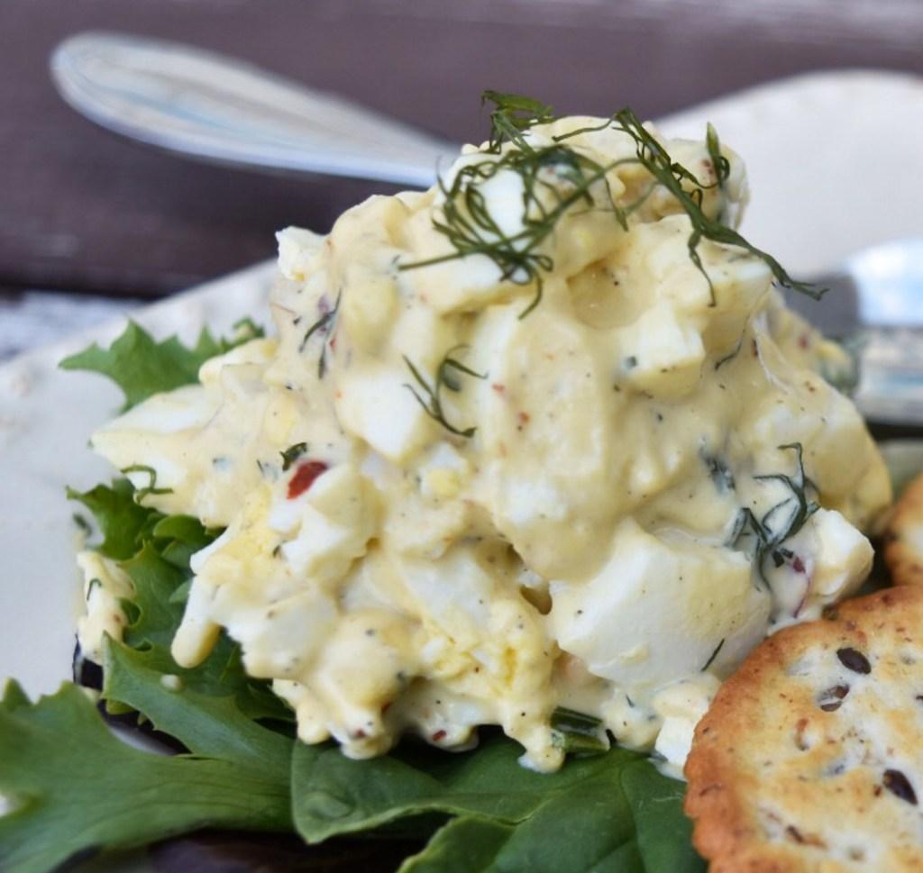 egg salad closeup