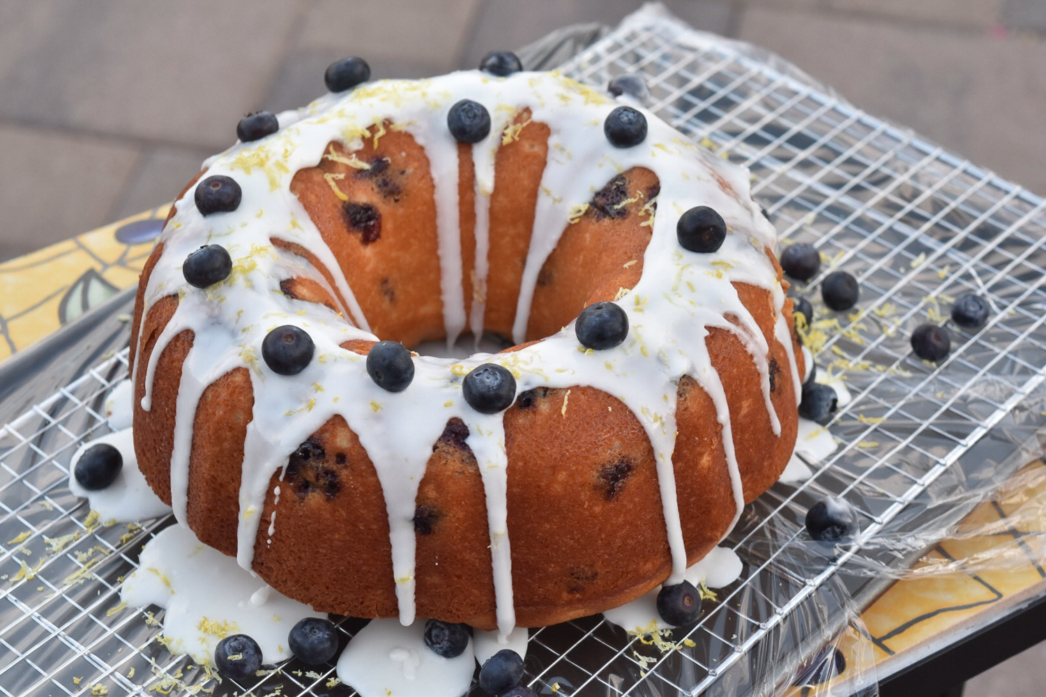 Lemon Blueberry Bundt Cake Pinterest
