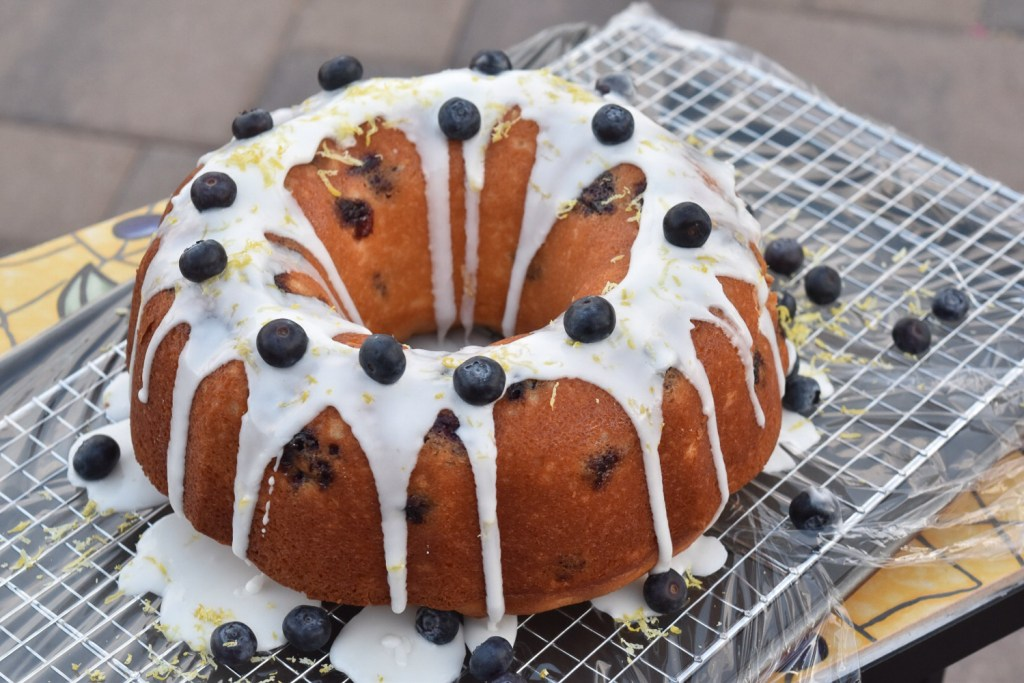 Lemon Blueberry Bundt whole