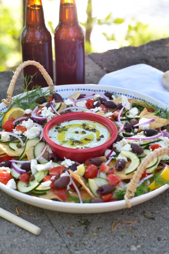 Greek Nacho Platter