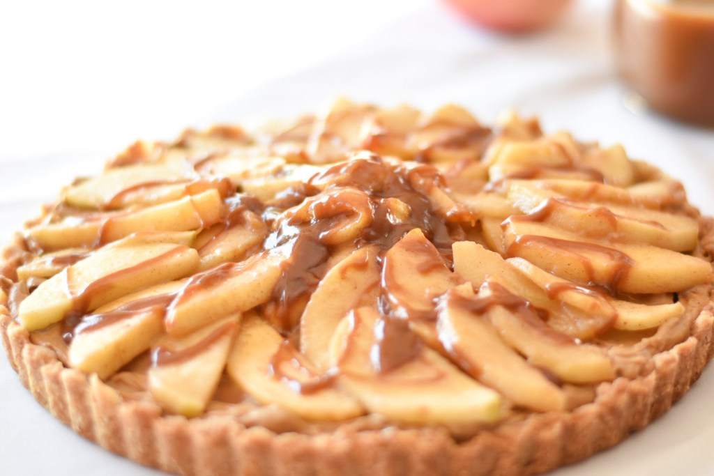 Salted Caramel Apple Tart