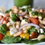 Chimichurri Panzanella Salad with White Beans