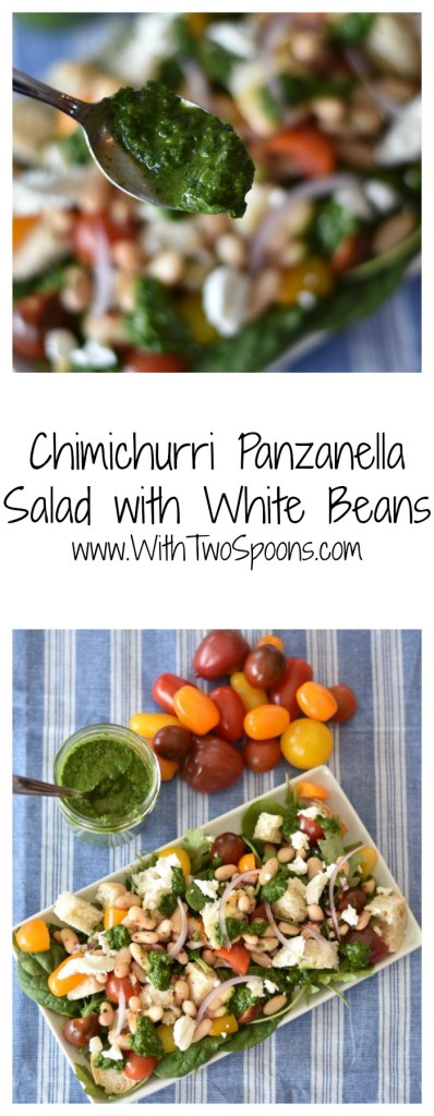 Chimichurri Panzanella with White Beans