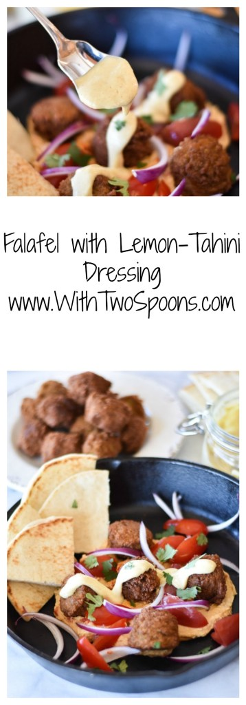 Falafel with Lemon-Tahini Dressing