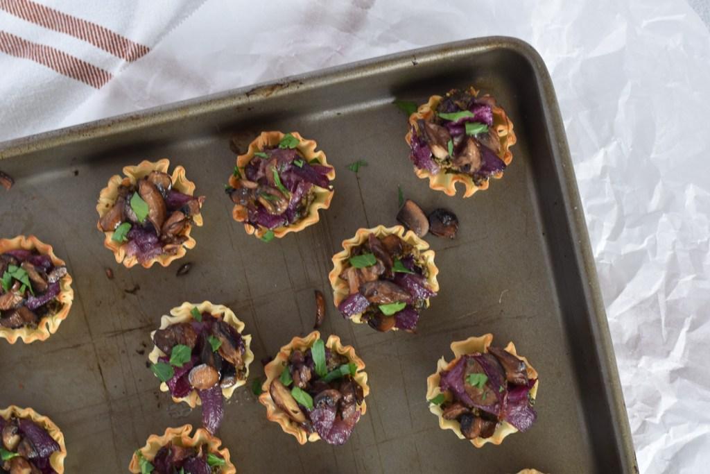 Vegan Mushroom Pesto Tartlets