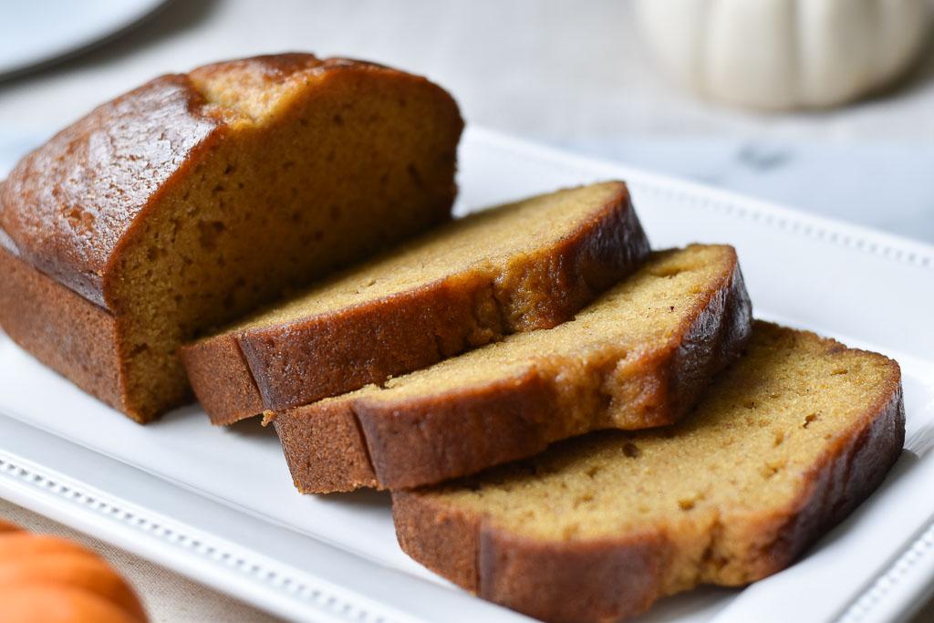 pumpkin bread close up