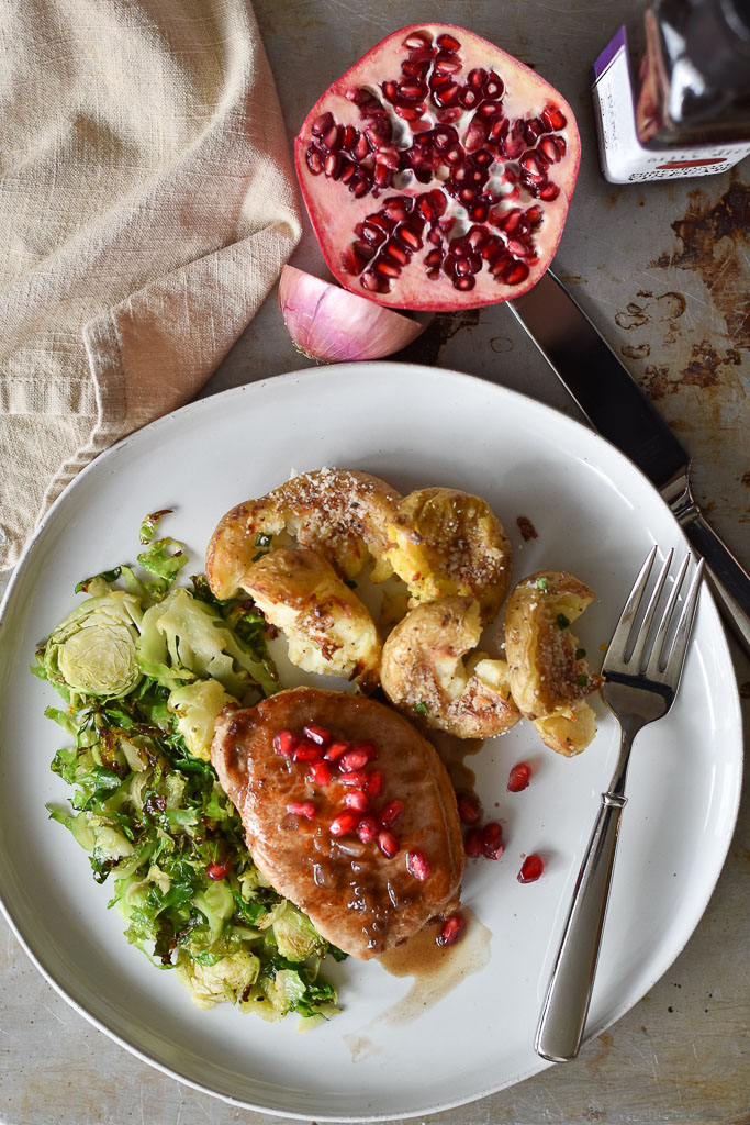 Pomegranate White Balsamic Pork