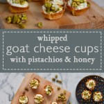 Whipped Goat Cheese Cups with Pistachios and Honey