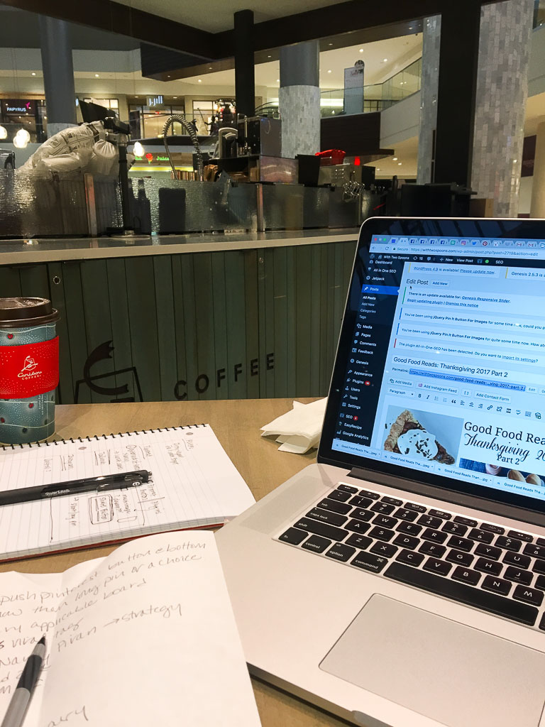 How to Start a Blog Coffee and Laptop
