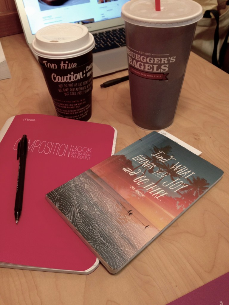 How to Start a Blog caffeine and notebooks
